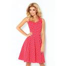 ingrosso Ingrosso Abbigliamento & Accessori: Rockabilly vestito  - rosso con piccoli punti bianc