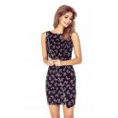 wholesale Fashion & Apparel: MM 004-6  Asymmetrical dress with BOTTLE piping