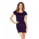 wholesale Fashion & Apparel: Dress with strap and two buttons - GRANATOWA