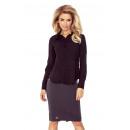 wholesale Shirts & Blouses: MM 016-3 Shirt  with baskette - BLACK