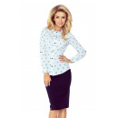 wholesale Shirts & Blouses: MM 017-5 Straight  shirt with GUITARS - WHITE
