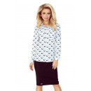 wholesale Shirts & Blouses: MM 018-5 Shirt  with POCKETS - white + black