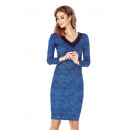 MM 020-2 A dress  with a neckline in HEART