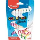 grossiste Bricoler et dessiner: Maped couleur Peps  stylo marqueur brosse Set, 10 p