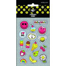 wholesale Gifts & Stationery: Smiley, emoji  stickers, 8x12cm, 5 sheets / pack