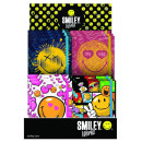 wholesale School Supplies: Smiley , emoji diary with rubber strap, 10x13cm, 4