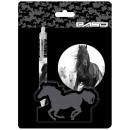 wholesale Gifts & Stationery: Horse set, 2 pcs, black and white, Paso