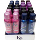 Fa Deodorante Spray 2x150ml 96 Display 4 volte ass