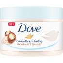 Dove Dusch Peeling 225ml Macadamia & Reismilch