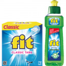 FIT Classic Tabs 72er XL + Fit detergente 100ml