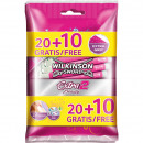 Wilkinson disposable razor Extra2 Beauty 20 + 10