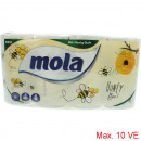 Mola toilet paper 3-ply 8x150 sheet Decor