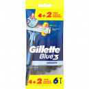 Gillette Blue3 Einwegrasierer Smooth 4+2 Gratis