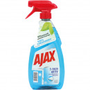 Ajax glass cleaner 500ml triple active with spray.