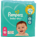 wholesale Toiletries: Pampers Diapers Baby Dry Size 4 Maxi (8-16kg)