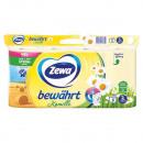 Zewa toilet paper 3-ply 8X150 sheets of chamomile
