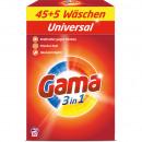 Gama Universalwaschmittel 50WL 3,25kg Packung