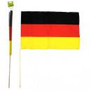 Fan Flag Niemcy 60x90cm drewniany Stiehl 110cm