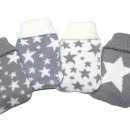 wholesale Wellness & Massage: Pocket warmer gray / white star design in 24er Dis