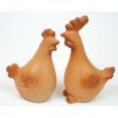 Cock or hen in the wood look 13,5x6,5x5,5cm,