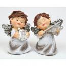 Luxus angyal zenészek 7x6x4cm, 2 szer szortírozott