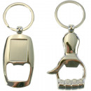 Keyring bottle opener 10x4cm silver