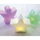LED Figuren 9x9x4cm mit Farbwechsel, 3-fach sortie