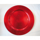 wholesale Home & Living: Christmas placemat XXL red 33x33x1,8cm metallis