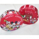 wholesale Kitchen Utensils: Disney Christmas box round, 19,7x6,5cm