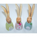 Wooden design rabbit XL with long ears