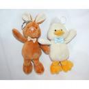 Plush figure 16x12x6cm, bunny and chicks assorted