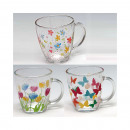 Glass mug with handle XL 12x10x9cm