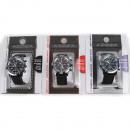 Großhandel Schmuck & Uhren: Armbanduhr Herren Chronograph 3-fach sortiert