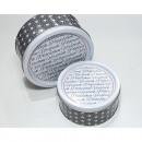 Cookie jars star set of 2, 17x8cm / 14x7cm, metal