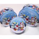 Cookie jars 'Santa and Snowman' set of 3 m