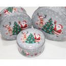 Cookie jars 'Santa and Elk' set of 3 made