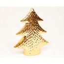 Dolomite Christmas tree 12x10x4cm gold chromed