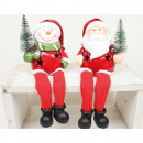 wholesale Lampes: LED Santa without snowman 19x9x6cm with Christmas