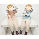 Edge seat ceramic angel 6x20cm 2- times assorted