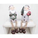 Edge seat ceramic Santa XL 20x6cm white / gray