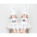 Edge seat ceramic angel white 30x9cm