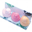 Bath bomb duckling set of 3 in window packaging