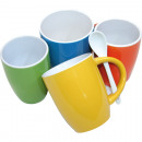 Coffee mug bulbous shape 330ml, colors assorted
