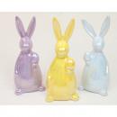 Luxury rabbit 13,5x6cm shiny, 3 colors assorted