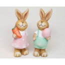 Rabbit XL 15x6cm with egg without carrot and great