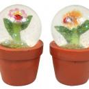 Water glass ball in the ceramic pot 8x5,5cm