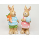 Bunny XXL 15x6cm decorated with egg or carrot