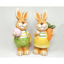 Rabbit XXL 15x8cm with egg without carrot, 2-fold