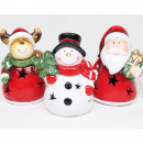wholesale Home & Living: LED figure bulbous with stars 10x6x5cm, ceramic