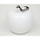 Apple white with chromed handle XL approx. 8,5x8,5